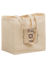 Cotton Canvas Grocery Bag | 12 x 8 x 13 | 6 oz. Cotton | Blank